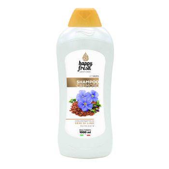 Happy fresh shampoo cremoso con estratto di semi di lino